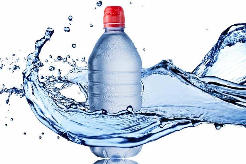 Water Splash and Water Bottle