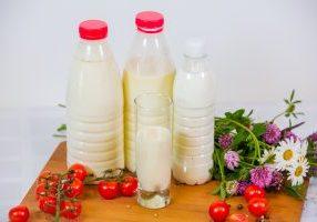 Milk, kefir, goat's milk