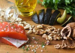 Omega 3 healthy fat on butcher block
