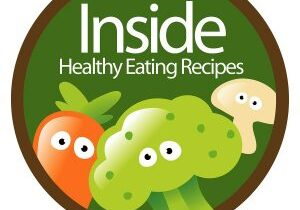Healthy Eating Sticker with carrot, broccoli, and mushroom
