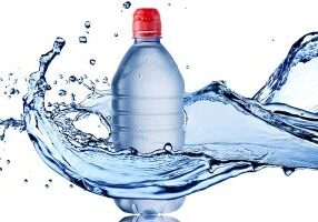 Water Splash From Cold Water Drinking Bottle