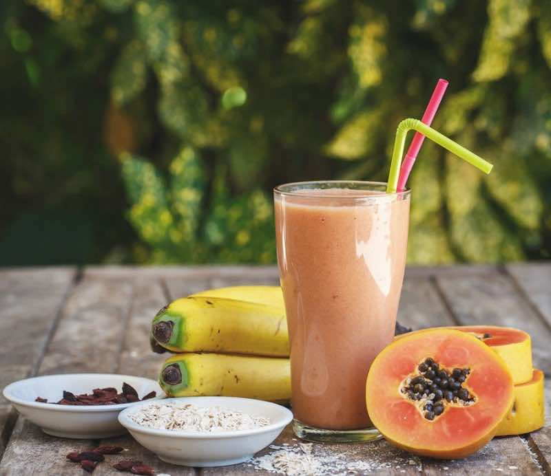 Some foods such as Papaya and Pineapple naturally contain digestive enzymes