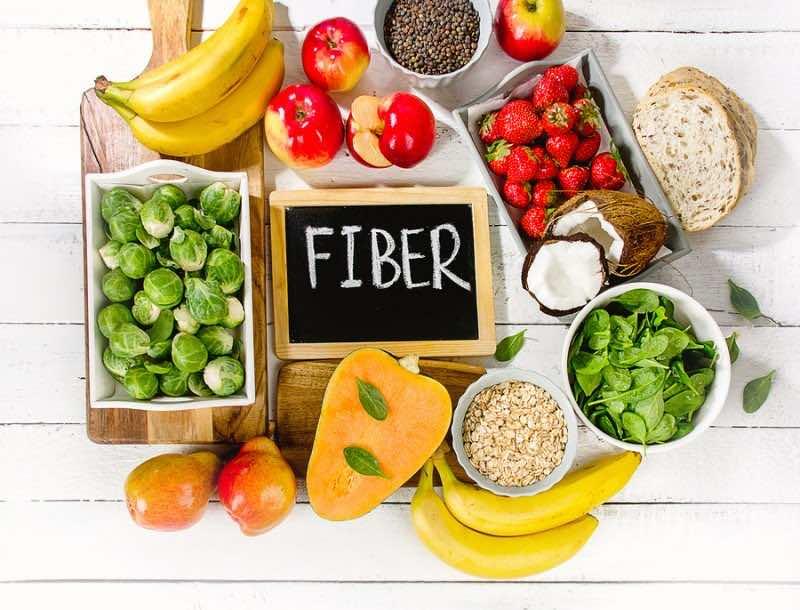 High Fiber Foods On A Wooden Background.