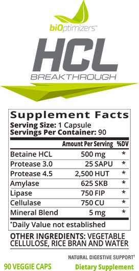 hcl-supplement-facts