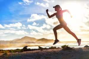 Runner on the Beach with Optimized Health