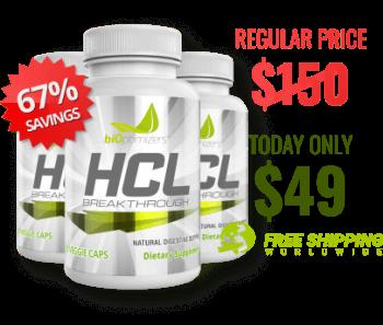 3 Bottles of HCL $49
