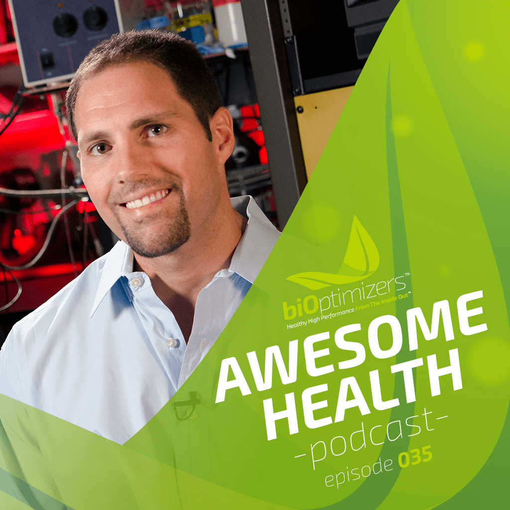 35 Dominic D'Agostino with Awesome Health Podcast branded frame